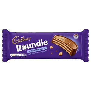 Cadbury Roundie Milk Chocolate Wafer Biscuits 6 Pack