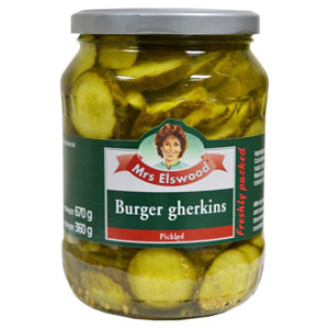 Mrs Elswood Burger Gherkins