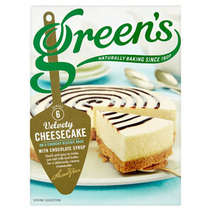 Greens Velvety Cheesecake Mix with Chocolate Syrup