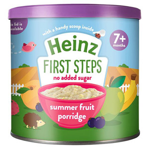 Heinz 7 Month First Steps Summer Fruits Porridge Tub