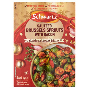 Schwartz Sauteed Brussel Sprouts with Bacon Mix Limited Edition