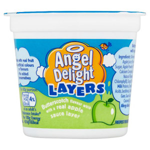 Angel Delight Layers Butterscotch Whip with Apple Sauce