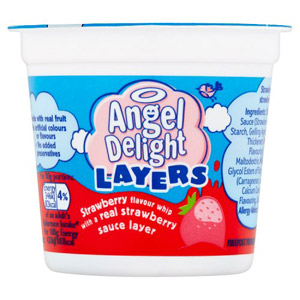Angel Delight Layers Strawberry Whip with Strawberry Sauce