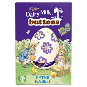 Cadbury Dairy Milk Buttons Peter Rabbit Easter Egg