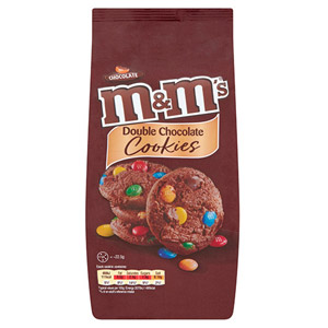 M&Ms Double Chocolate Cookies