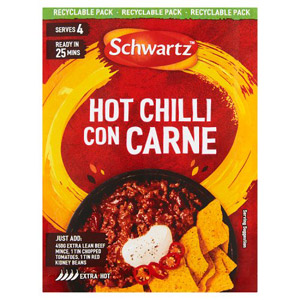 Schwartz Authentic Hot Chilli Con Carne Mix