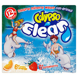 Calypso Clear Cups Drinks 12 Pack