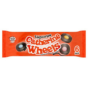 Barratt Liquorice Catherine Wheels 6 Pack