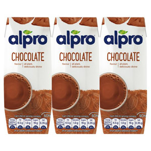 Alpro Soya Longlife Chocolate Shakes 3 Pack
