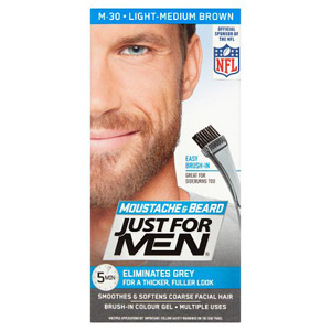 Just For Men Moustache & Beard - Light Med Brown 30