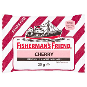 Fishermans Friend Cherry Stripe (No Added Sugar)