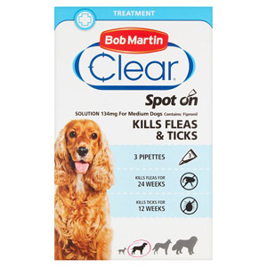 Bob Martin Spot-On Flea and Tick Treatment - Medium Dogs