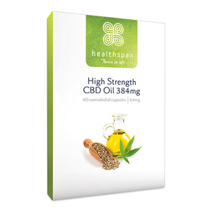 Healthspan High Strength CBD Oil 192mg to 384mg 60 Capsules