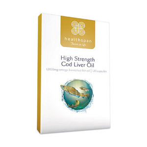 Healthspan High Strength Cod Liver Oil 1000mg 120 Capsules