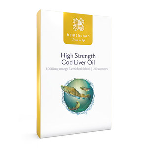 Healthspan High Strength Cod Liver Oil 1000mg 240 Capsules