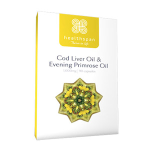 Healthspan Cod Liver Oil with Evening Primrose Oil 180 Capsules
