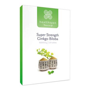 Healthspan Super Strength Ginkgo Biloba 10000mg 120 Tablets