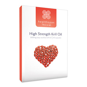 Healthspan High Strength Krill Oil 500mg 60 Capsules