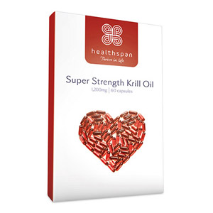 Healthspan Super Strength Krill Oil 1200mg 60 Capsules