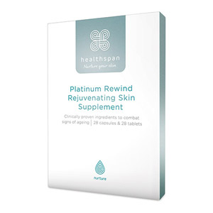 Healthspan Platinum Rewind Rejuvenating Skin Supplement 56 Capsules & Tablets