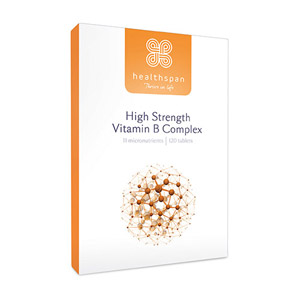 Healthspan High Strength Vitamin B Complex 120 Tablets
