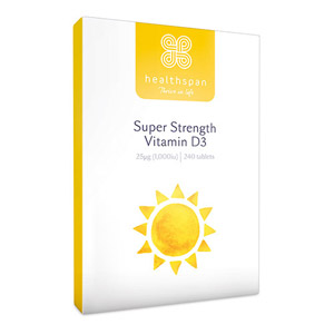 Healthspan Super Strength Vitamin D3 240 Tablets