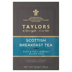 Taylors Scottish Breakfast 20 Tagged Teabags