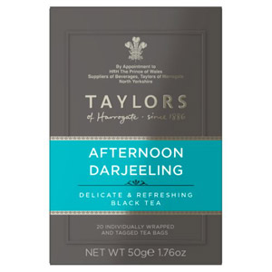 Taylors Afternoon Darjeeling 20 Tagged Teabags