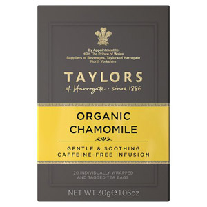 Taylors Organic Chamomile 20 Tagged Teabags