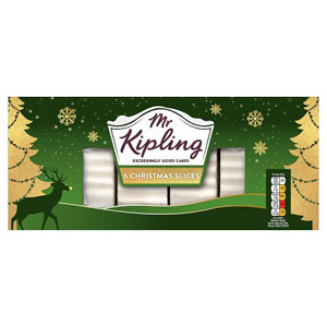 Mr Kipling Christmas Cake Slices 6 Pack