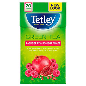 Tetley Green Tea with Raspberry & Pomegranate 20s