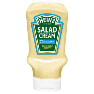 Heinz Salad Cream Extra Light 70% Less Fat Top Down