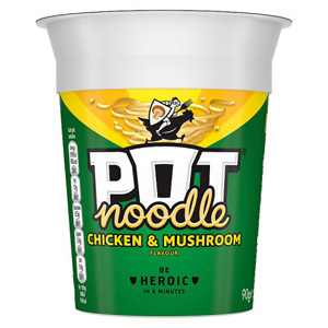 Pot Noodle Chicken and Mushroom