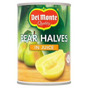 Del Monte Pear Halves in Juice