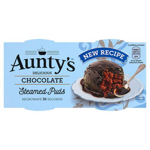 Auntys Chocolate Fudge Pudding 2 Pack