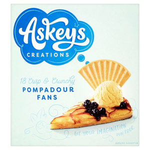 Askeys Pompadour Fan Wafers x 18