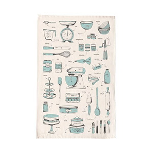 Victoria Eggs Baking Delight Tea Towel Teal