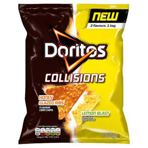 Walkers Doritos Collisions Honey Glazed Ribs and Lemon Blast