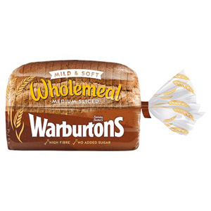 Warburtons Wholemeal Medium Bread Small