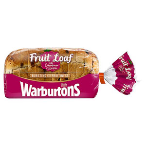 Warburtons Raisin Loaf With Cinnamon