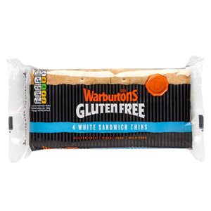 Warburtons Gluten Free 4 White Sandwich Thins