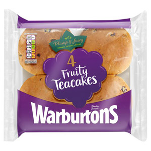 Warburtons 4 Fruity Teacakes