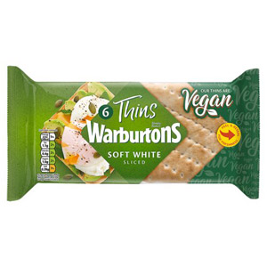 Warburtons 6 Sandwich Thins White