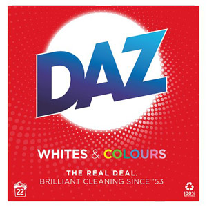 Daz Auto Whites And Colours Powder 22 Wash