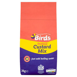 Birds Instant Custard Mix Add Water 3kg