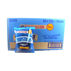 Smiths Salt and Vinegar Chipsticks 30 x 37g
