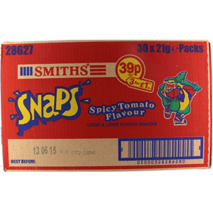 Smiths Spicy Tomato Snaps x 30