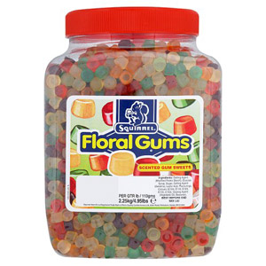 Squirrel Floral Gums Jar