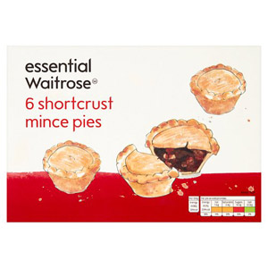 essential Waitrose Shortcrust Mince Pies 6 Pack