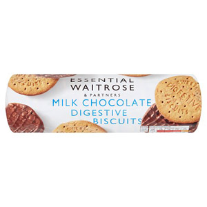 essential Waitrose Biscuits Milk Chocolate Digestives